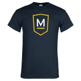 Navy T Shirt-Maranatha Baptist University Shield