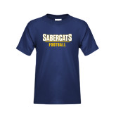 Youth Navy T Shirt-Football