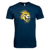 Next Level SoftStyle Navy T Shirt-Sabercat Head