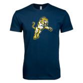 Next Level SoftStyle Navy T Shirt-Sabercat Lunge