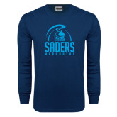 Navy Long Sleeve T Shirt-Maranatha Saders