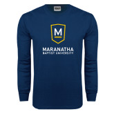 Navy Long Sleeve T Shirt-Maranatha Baptist University