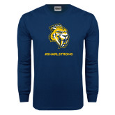 Navy Long Sleeve T Shirt-Snarl Strong
