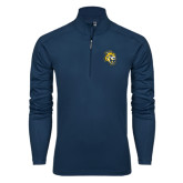 Syntrel Navy Interlock 1/4 Zip-Sabercat Head