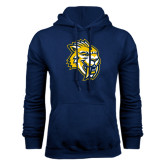 Navy Fleece Hood-Sabercat Head