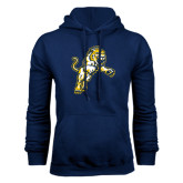 Navy Fleece Hoodie-Sabercat Lunge