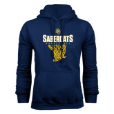Navy Fleece Hoodie-Basketball Design