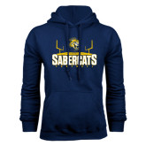Navy Fleece Hood-Football Design