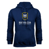 Navy Fleece Hood-Maranatha Baptist University