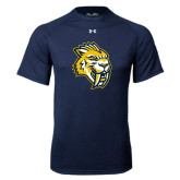 Under Armour Navy Tech Tee-Sabercat Head