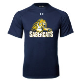 Under Armour Navy Tech Tee-Sabercat Swoosh