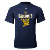 Under Armour Navy Tech Tee-Basketball Design