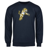 Navy Fleece Crew-Sabercat Lunge