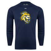 Under Armour Navy Long Sleeve Tech Tee-Sabercat Head