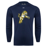 Under Armour Navy Long Sleeve Tech Tee-Sabercat Lunge