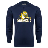 Under Armour Navy Long Sleeve Tech Tee-Sabercat Swoosh