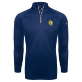 Under Armour Navy Tech 1/4 Zip Performance Shirt-Sabercat Head