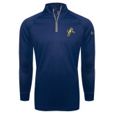 Under Armour Navy Tech 1/4 Zip Performance Shirt-Sabercat Lunge