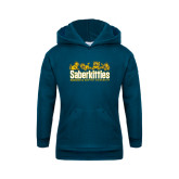 Youth Navy Fleece Hood-SaberKitties