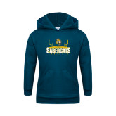 Youth Navy Fleece Hood-Football Design