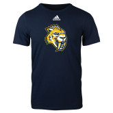Adidas Navy Logo T Shirt-Sabercat Head