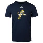 Adidas Navy Logo T Shirt-Sabercat Lunge