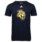 Adidas Climalite Navy Ultimate Performance Tee-Sabercat Head