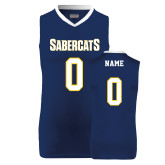 Replica Retro Navy Adult Basketball Jersey-Personalized