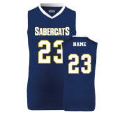 Replica Navy Adult Basketball Jersey-#23