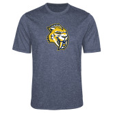 Performance Navy Heather Contender Tee-Sabercat Head