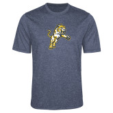 Performance Navy Heather Contender Tee-Sabercat Lunge