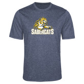 Performance Navy Heather Contender Tee-Sabercat Swoosh