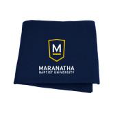 Navy Sweatshirt Blanket-Maranatha Baptist University