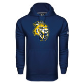 Under Armour Navy Performance Sweats Team Hoodie-Sabercat Head