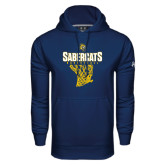 Under Armour Navy Performance Sweats Team Hood-Basketball Design