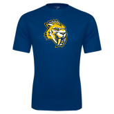 Syntrel Performance Navy Tee-Sabercat Head
