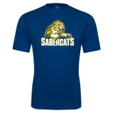 Syntrel Performance Navy Tee-Sabercat Swoosh