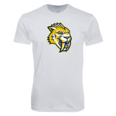Next Level SoftStyle White T Shirt-Sabercat Head