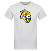 White T Shirt-Sabercat Head