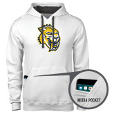 Contemporary Sofspun White Hoodie-Sabercat Head