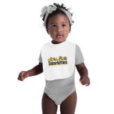 White Baby Bib-SaberKitties