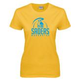 Ladies Gold T Shirt-Maranatha Saders