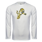 Syntrel Performance White Longsleeve Shirt-Sabercat Lunge