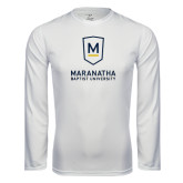 Syntrel Performance White Longsleeve Shirt-Maranatha Baptist University