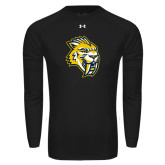 Under Armour Black Long Sleeve Tech Tee-Sabercat Head