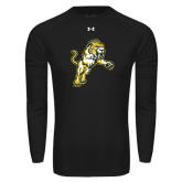 Under Armour Black Long Sleeve Tech Tee-Sabercat Lunge