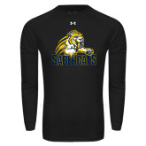 Under Armour Black Long Sleeve Tech Tee-Sabercat Swoosh