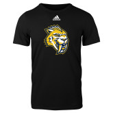 Adidas Black Logo T Shirt-Sabercat Head