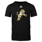 Adidas Black Logo T Shirt-Sabercat Lunge