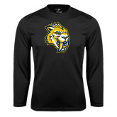 Syntrel Performance Black Longsleeve Shirt-Sabercat Head